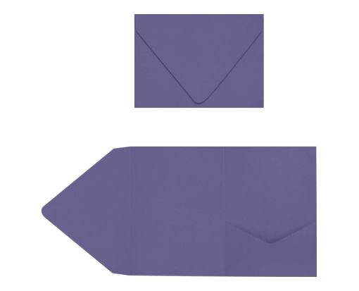 A7 Pocket Invitations Wisteria