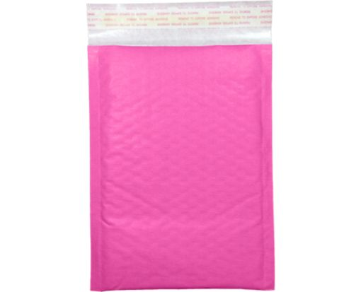 #0 LUX Kraft Bubble Mailer Envelopes Bright Fuchsia