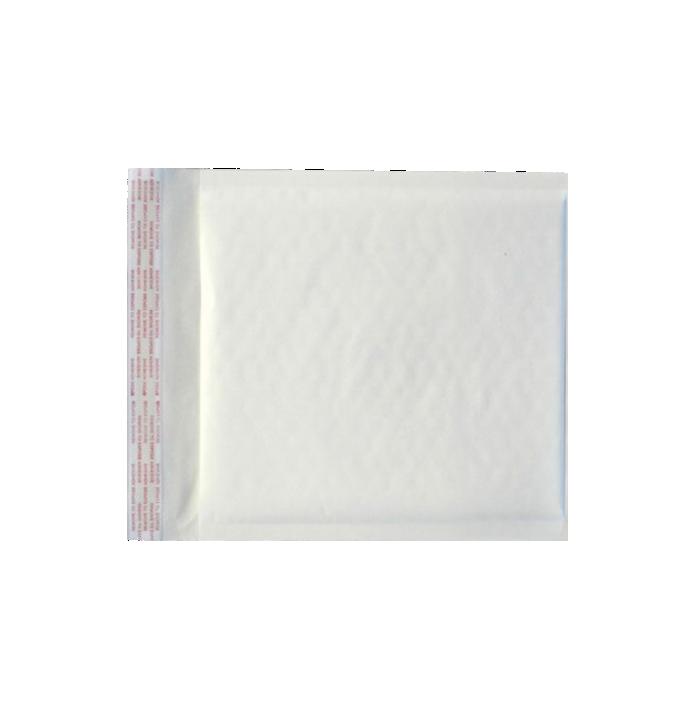 CD (7 1/4 x 8) LUX Kraft Bubble Mailer  White Kraft