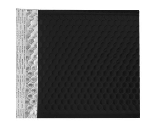 6 X 6 1/2 - LUX Matte Metallic Bubble Mailer Black