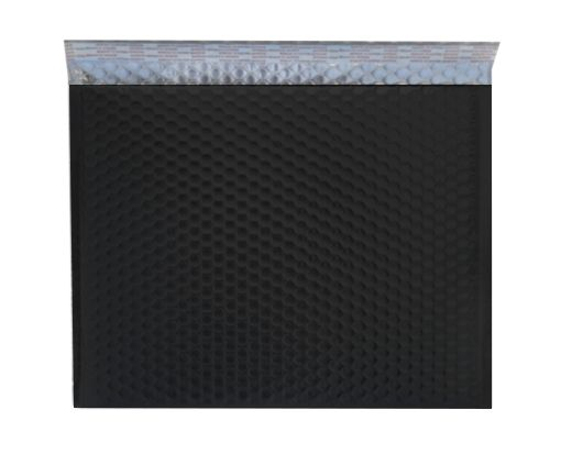 12 3/4 X 10 1/2 - LUX Matte Metallic Bubble Mailer Black
