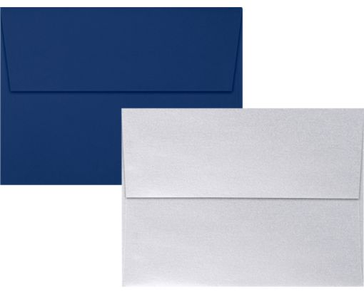 A7 Invitation Envelopes - Multi-Pack Navy/Silver Metallic