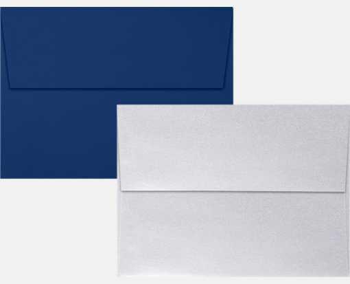 navy silver metallic a7 envelopes square flap 5 1 4 x 7 1 4