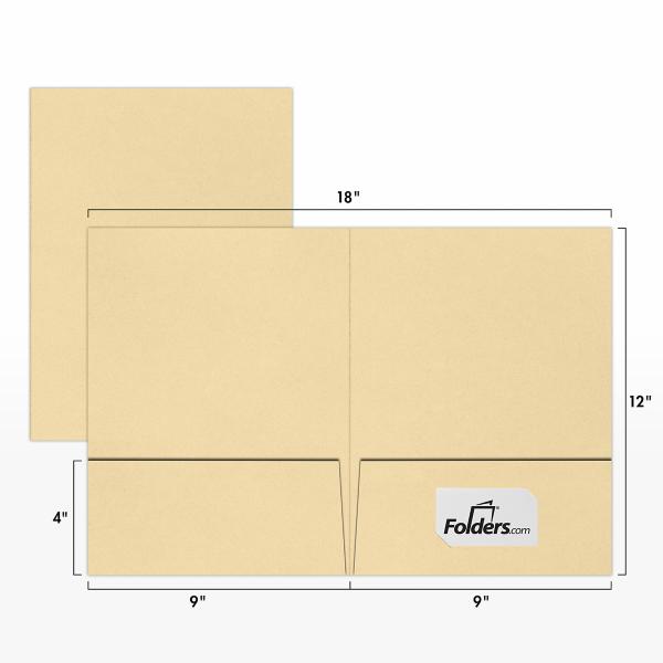 9 x 12 Presentation Folders Nude