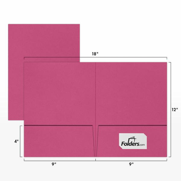 9 x 12 Presentation Folders Magenta