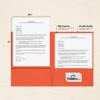 9 x 12 Presentation Folders Tangerine