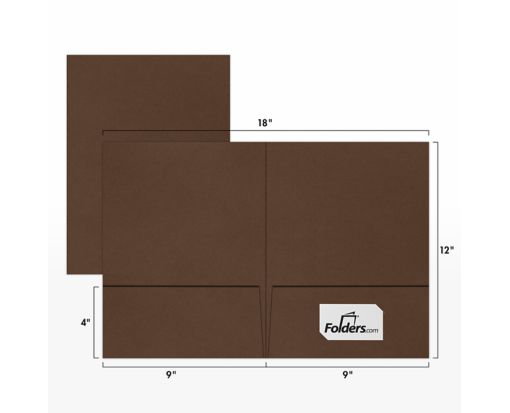 9 x 12 Presentation Folders Chocolate