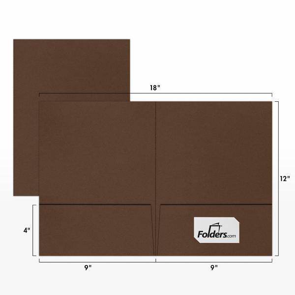 9 x 12 Presentation Folders Chocolate