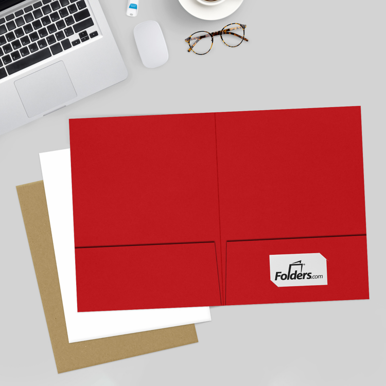9 x 12 Presentation Folders Ruby Red