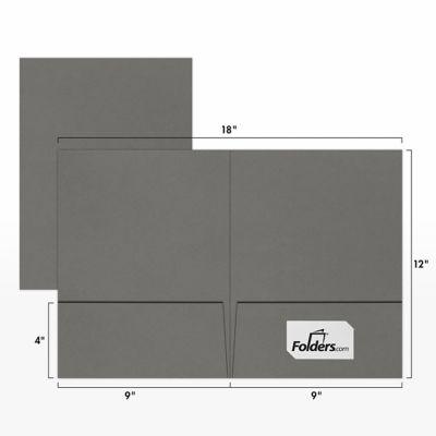 9 x 12 Presentation Folders Smoke