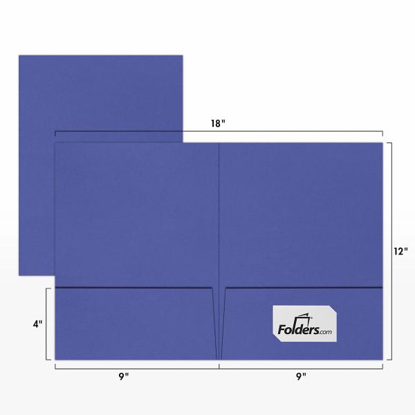9 x 12 Presentation Folders Boardwalk Blue