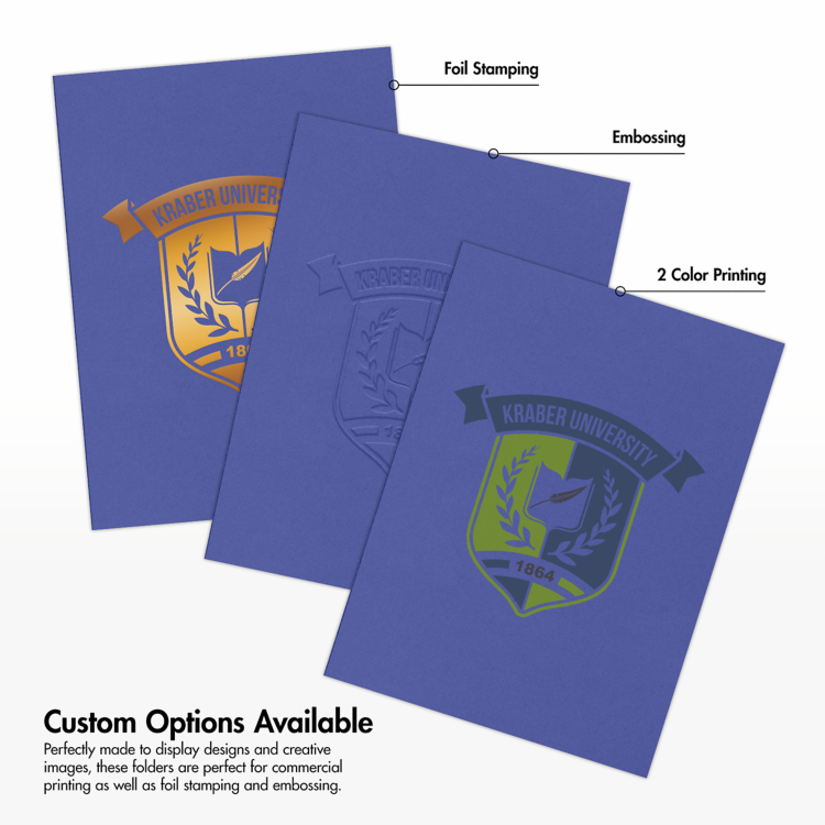 9 x 12 Presentation Folders Boardwalk Blue