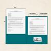 9 x 12 Presentation Folders Teal