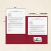 9 x 12 Presentation Folders Garnet