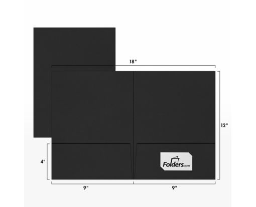 9 x 12 Presentation Folders Midnight Black