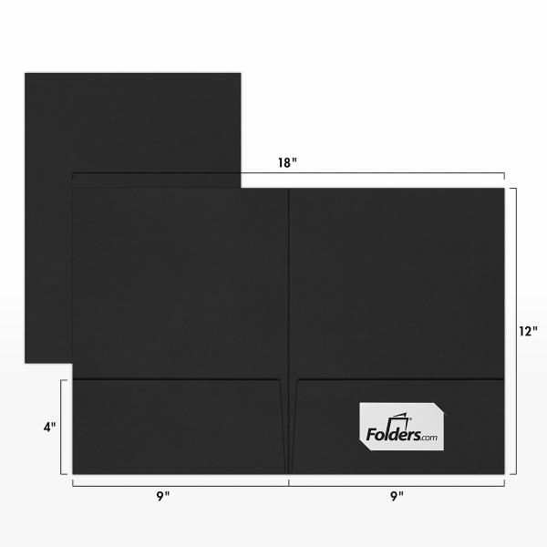 9 x 12 Presentation Folders Midnight Black
