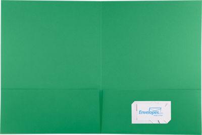 9 x 12 Presentation Folders Holiday Green