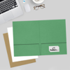 9 x 12 Presentation Folders Holiday Green