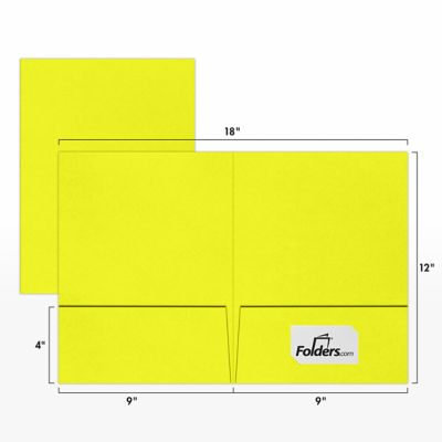 9 x 12 Presentation Folders Citrus