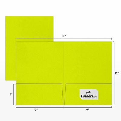9 x 12 Presentation Folders Wasabi