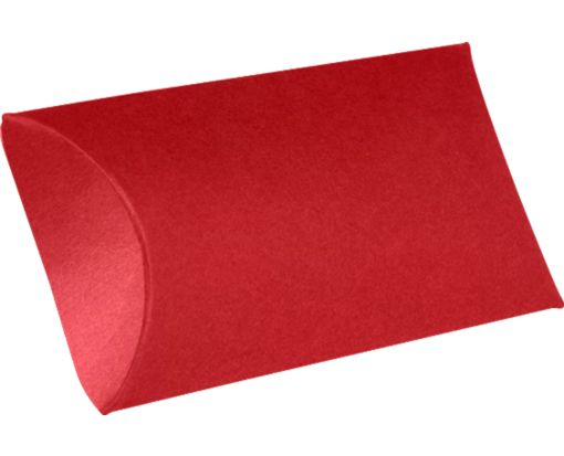 Small Pillow Boxes (2 x 3/4 x 3) Ruby Red