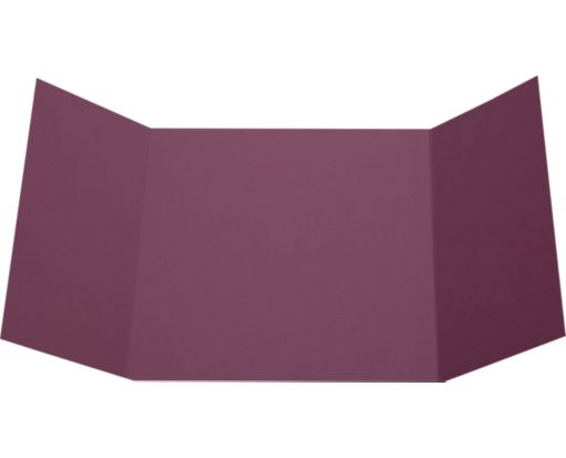 6 1/4 x 6 1/4 Gatefold Invitation Vintage Plum