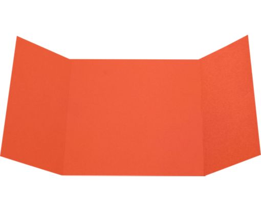 6 1/4 x 6 1/4 Gatefold Invitation Tangerine