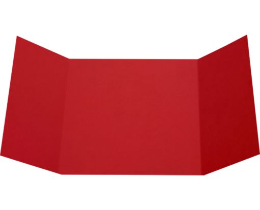 6 1/4 x 6 1/4 Gatefold Invitation Ruby Red