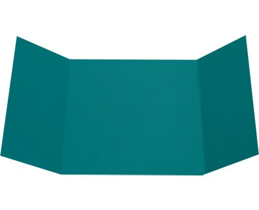 6 1/4 x 6 1/4 Gatefold Invitation Teal