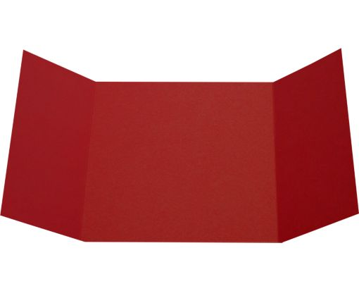 6 1/4 x 6 1/4 Gatefold Invitation Garnet