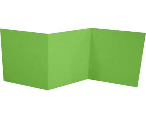 6 1/4 x 6 1/4 Z-Fold Invitation Limelight