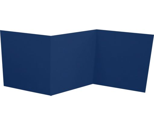 6 1/4 x 6 1/4 Z-Fold Invitation Navy