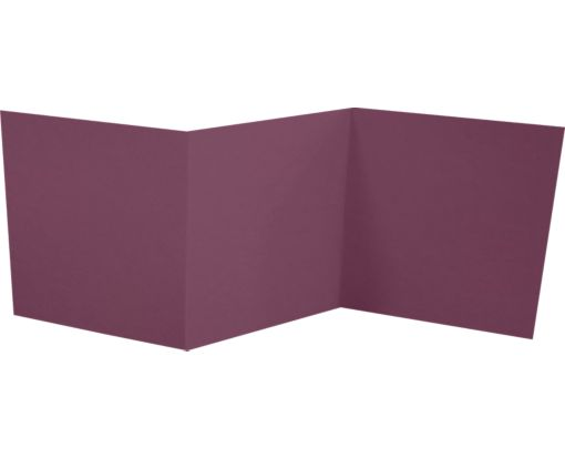 6 1/4 x 6 1/4 Z-Fold Invitation Vintage Plum