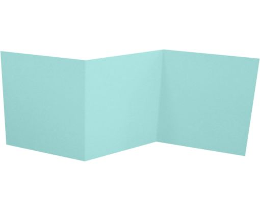6 1/4 x 6 1/4 Z-Fold Invitation Seafoam