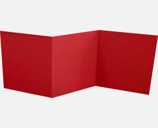 6 1/4 x 6 1/4 Z-Fold Invitation Ruby Red