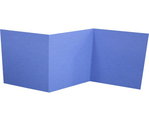 6 1/4 x 6 1/4 Z-Fold Invitation Boardwalk Blue