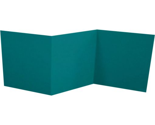 6 1/4 x 6 1/4 Z-Fold Invitation Teal