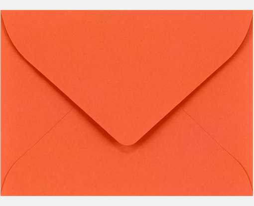 #17 Mini Envelopes (2 11/16 x 3 11/16) Tangerine