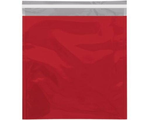 10 3/4 x 13 Metallic Glamour Mailers Red