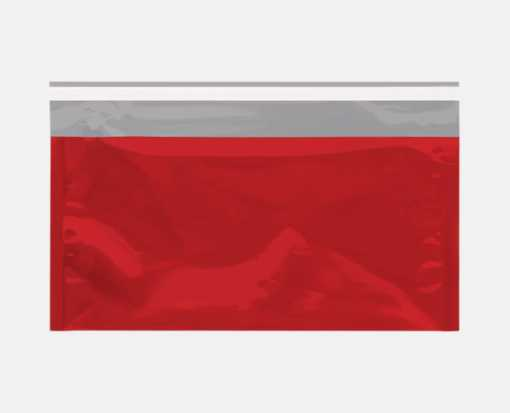 6 1/4 x 10 1/4 Metallic Glamour Mailers Red