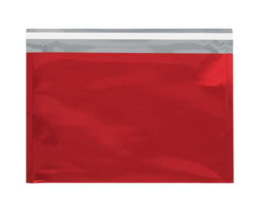 9 1/2 x 12 3/4 Metallic Glamour Mailers Red