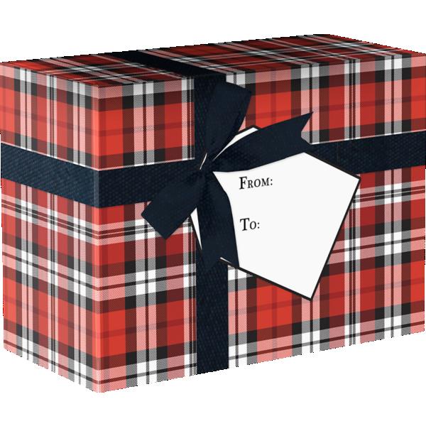 Mailing Box Large  Authentic Plaid