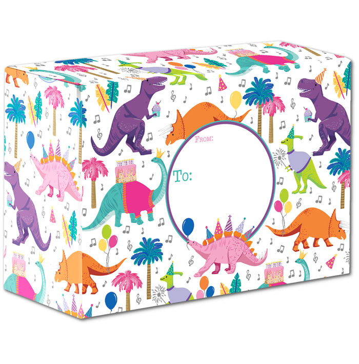 Mailing Box Small (9 1/2 x 6 1/2 x 4) Dino Party
