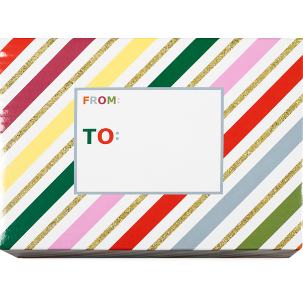 Mailing Box Small  Glitter Stripe
