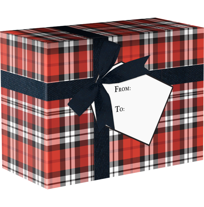 Mailing Box Small  Authentic Plaid