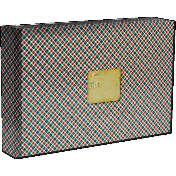 Large Gift Mailing Box (18 x 12 x 3) Tartan