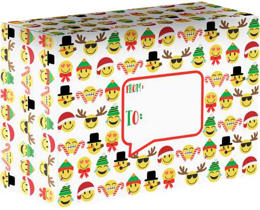 Mailing Box Medium  Emoji Christmas