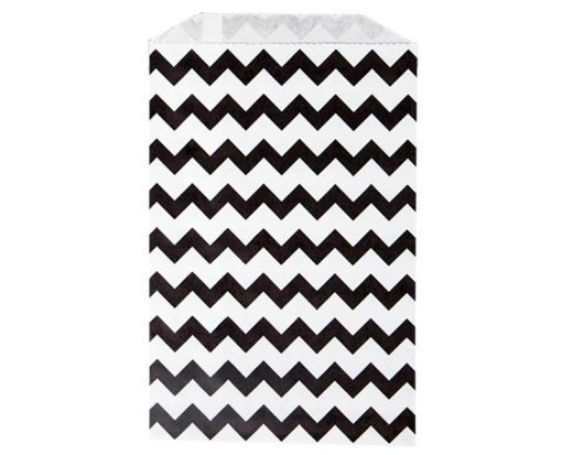 Middy Bitty Bag (5 x 7 1/2) - Black Chevron Black Chevron