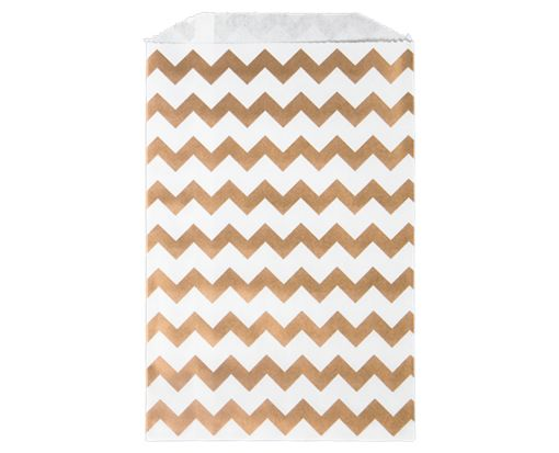 Middy Bitty Bag (5 x 7 1/2) - Gold Chevron Gold Chevron