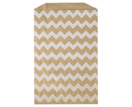 Middy Bitty Bag (5 x 7 1/2) - Grocery Bag with White Chevron White Chevron